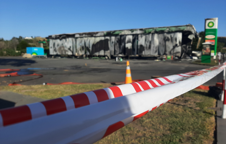 Bay View service station fire cause revealed: Petrol container accidentally ignited by cigarette lighter