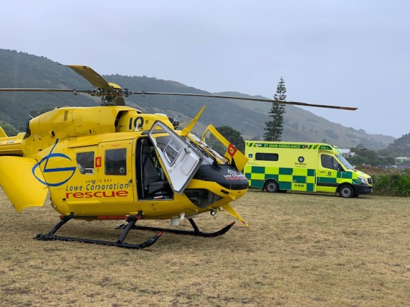 Busy weekend for Bay's rescue helicopter