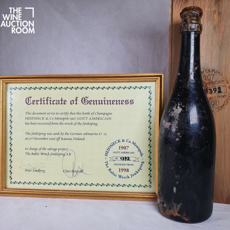 Century old champagne recovered from a shipwreck sells at auction in New Zealand