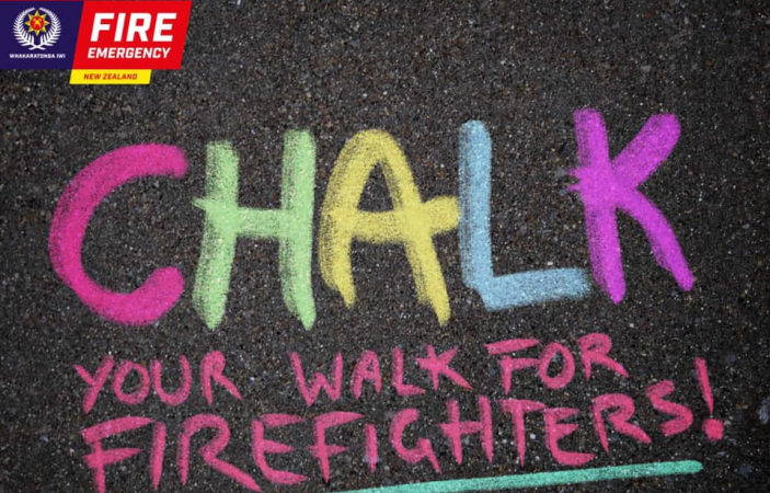 """""""Chalk your walk"""": Hawke's Bay firefighters call on community to celebrate International Firefighters' Day"""