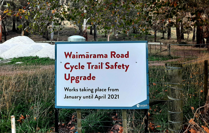 Delays set back completion of new $700,000 Waimarama Rd cycle trail