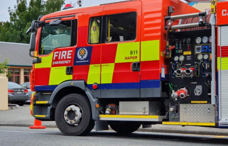 Hawke's Bay firefighters extinguish vegetation fire, Clive