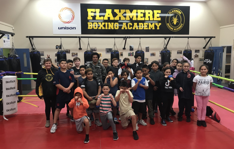 Funding support for Flaxmere Boxing Academy