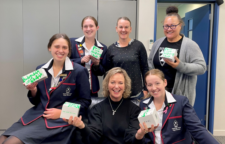 Hastings Girls' students give MP positive feedback on free period products