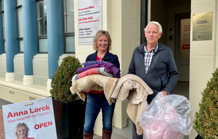 Hawke's Bay's local MPs throw all behind annual Blanket Drive