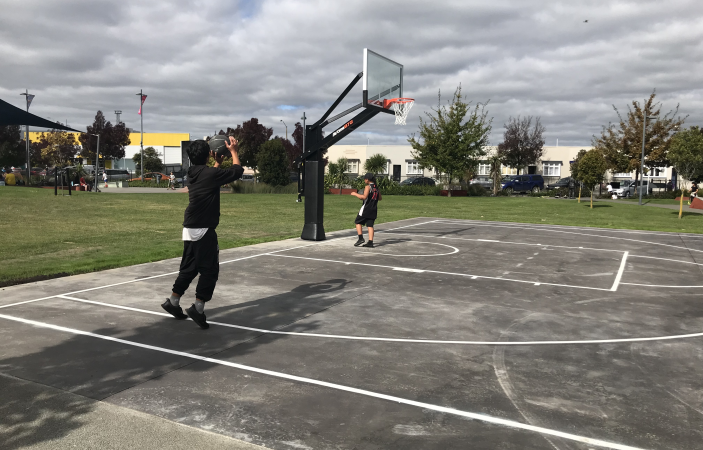 Hoops in Parks pilot programme on a roll in Flaxmere
