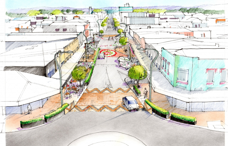 Inner city street development enters new phase