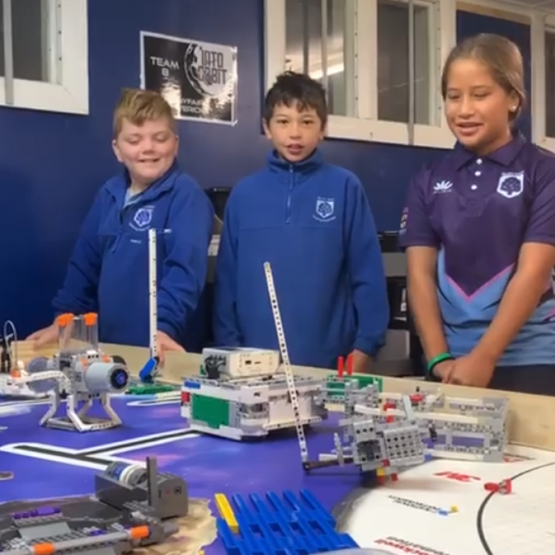 Lego show supports young Bay robot designers' trip of a lifetime