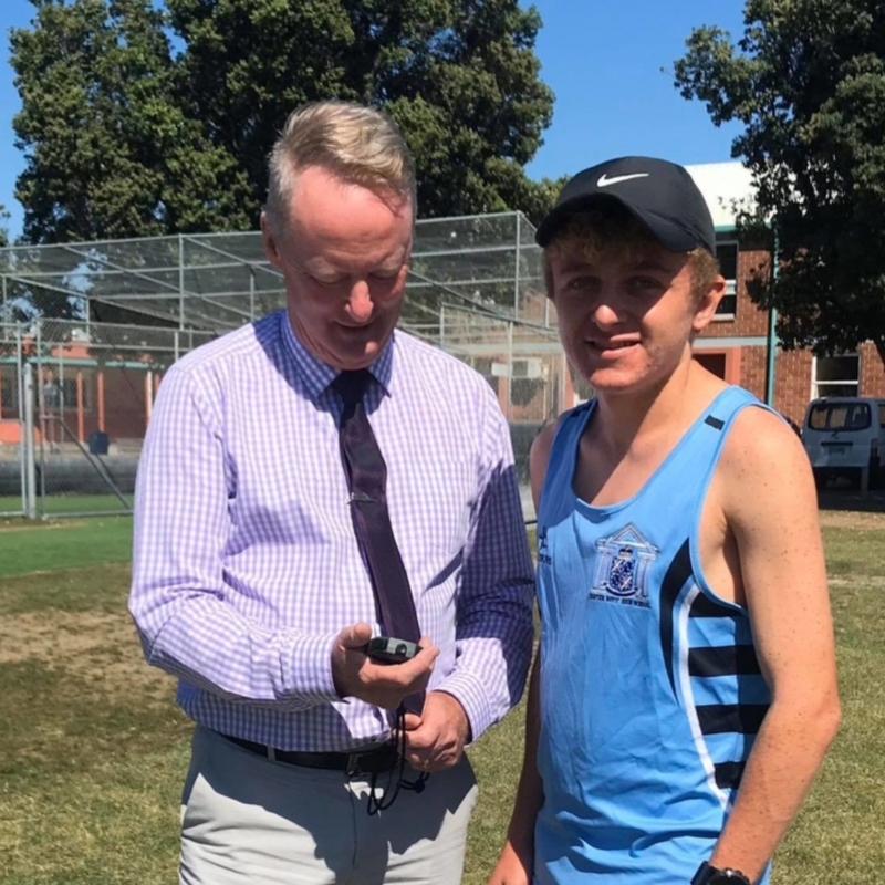 Napier Boys' running champ ready to shine after turning life around