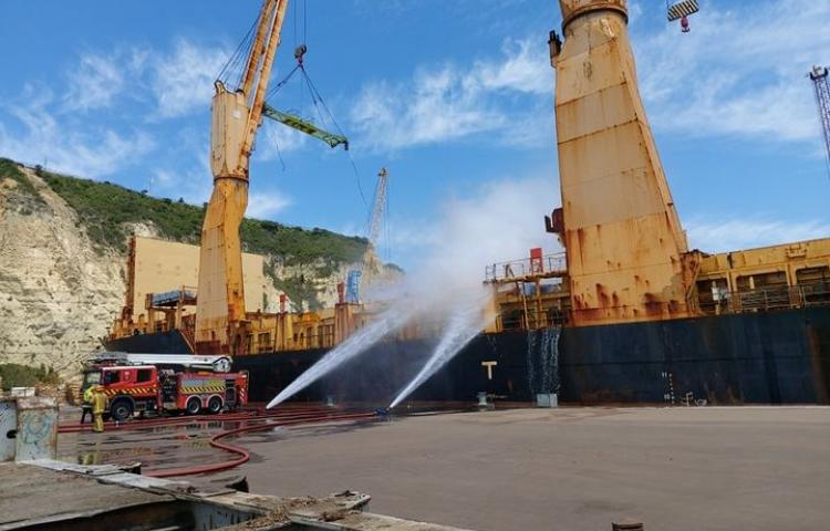 Napier Port's ship fire extinguished, cargo revealed