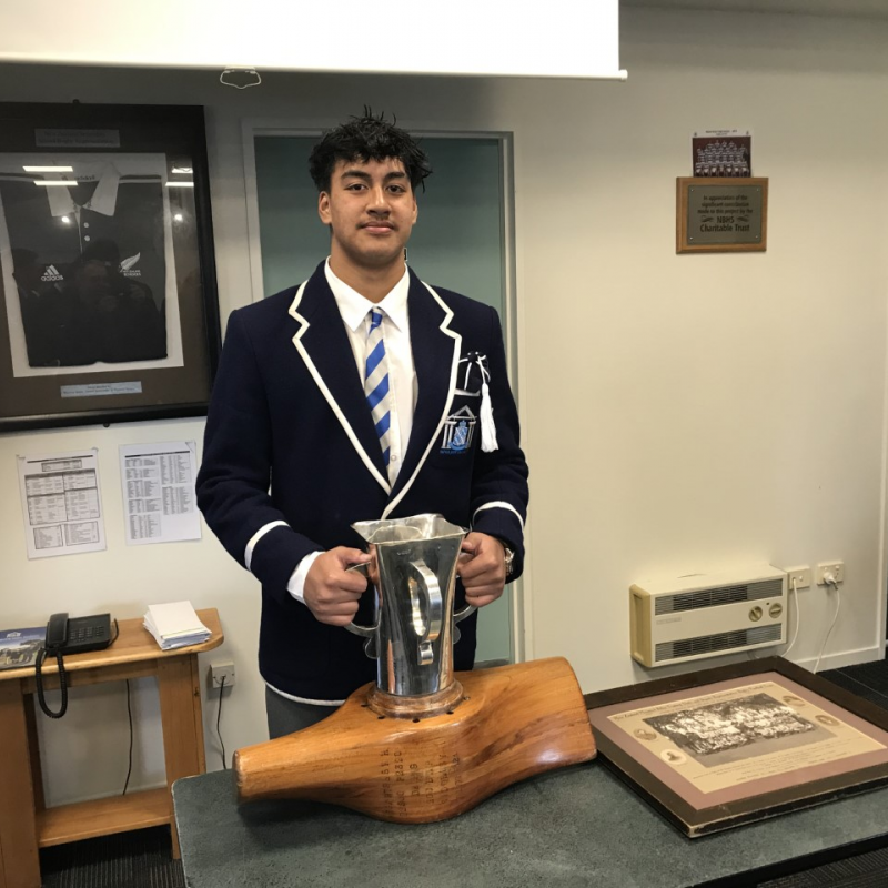 NBHS 1st XV rugby lads retain Moascar Cup