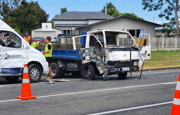 One person transported to hospital after two-car crash in Napier
