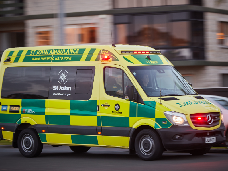 Pedestrian hospitalised after being hit by vehicle in Hastings.