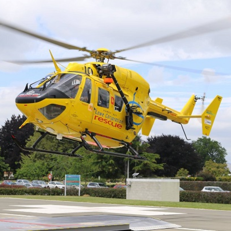 Rescue helicopter flew seven missions last week