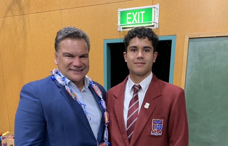Rugby legend inspires St. John's College boys