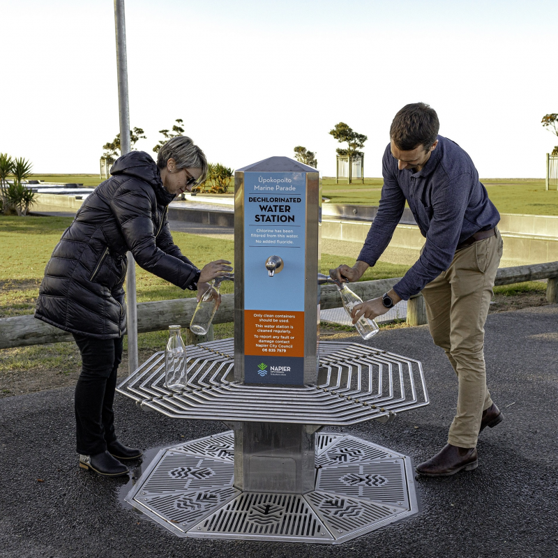 Second dechlorinated water station opens in Napier today
