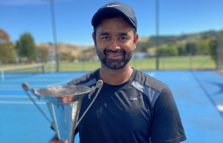Third title for Hastings professional tennis coach