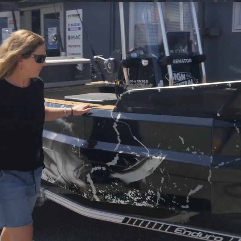 Watch: A mega win for local fishing enthusiast