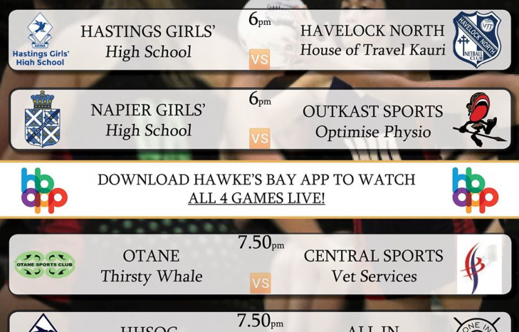 Watch Now: Super 8 Netball Live on the Hawke's Bay App