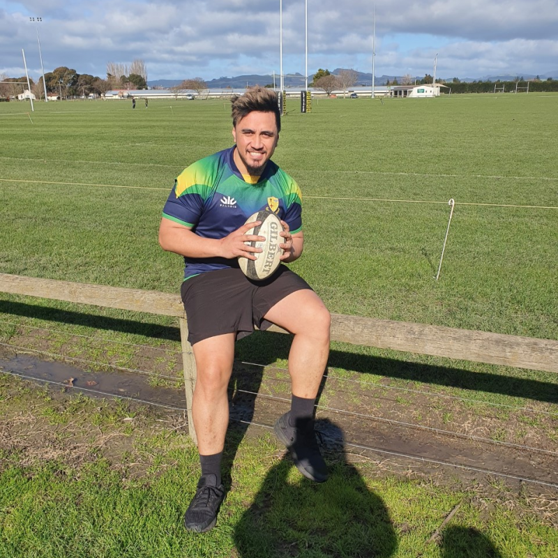 Winning 100th for Hastings rugby utility back