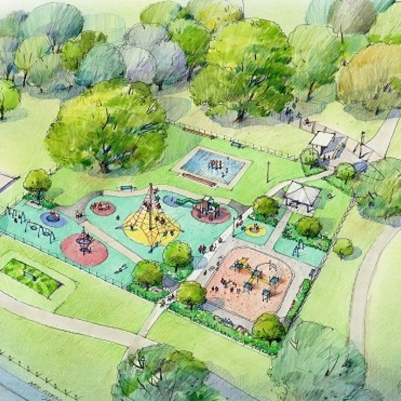 Work resumes on Flaxmere Park playground upgrade