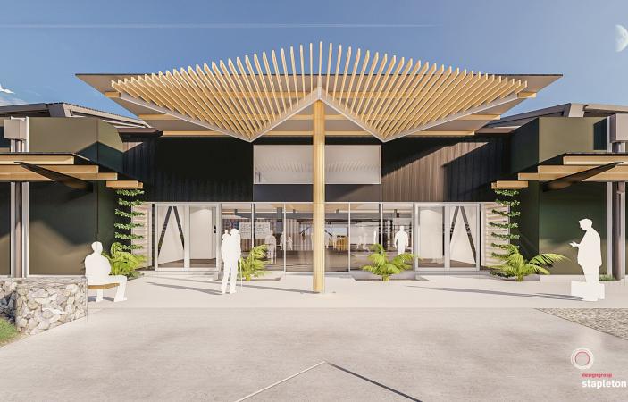 Work underway on Hawke's Bay Airport's new forecourt