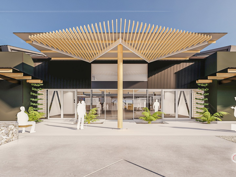 Work underway on Hawke's Bay Airport's new forecourt